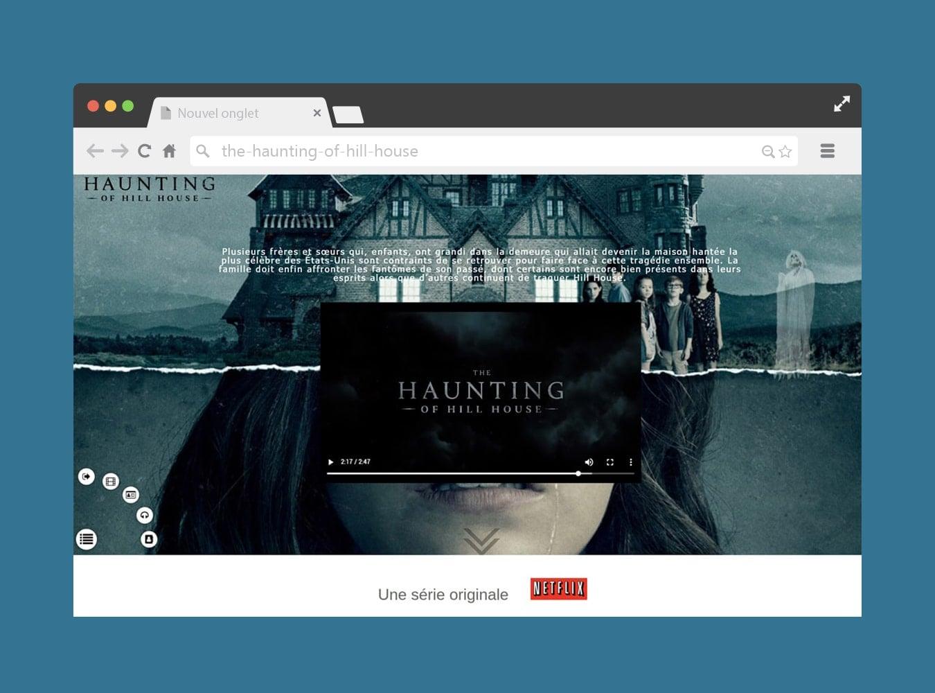 Site WordPress thème série TV
