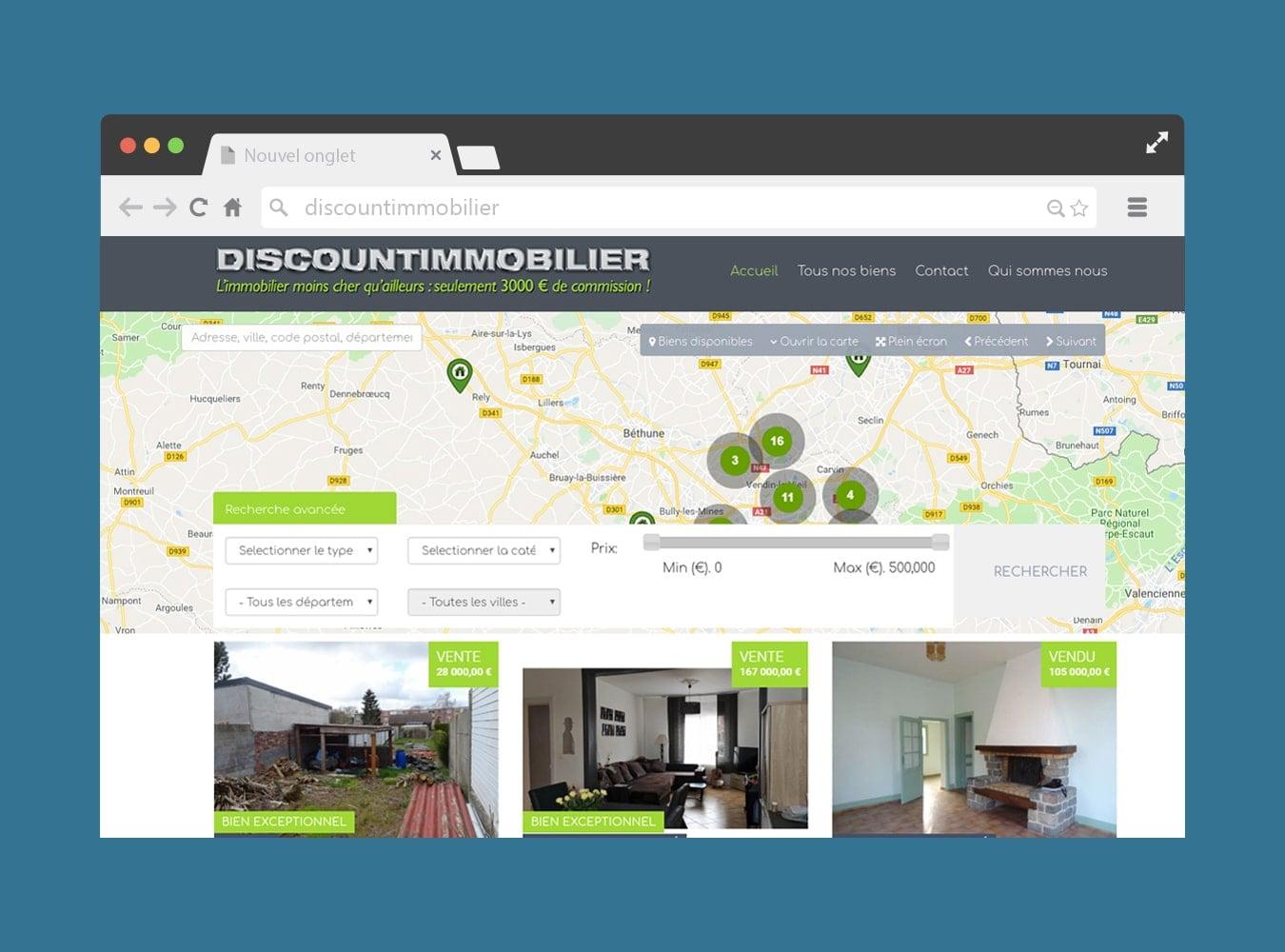 Site Joomla immobilier
